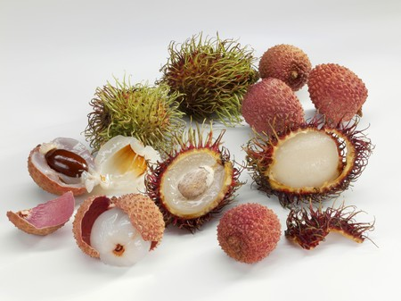 lychees: Rambutans and lychees
