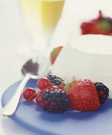 turned out: Panna cotta with fresh berries LANG_EVOIMAGES