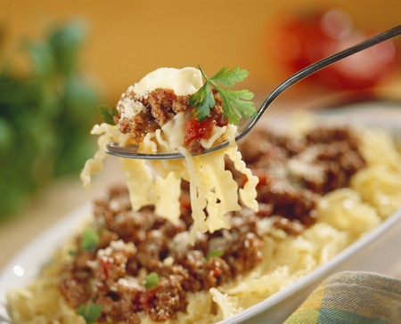 food: Pasta with bolognese sauce