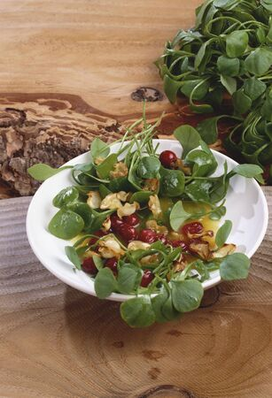 miners: Winter salad: miners lettuce with parsnip crisps & cranberries LANG_EVOIMAGES