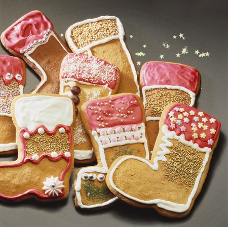 botas de navidad: Botas de pan de jengibre de Pap� Noel