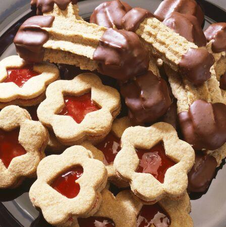 jam biscuits: Biscotti di marmellata e biscotti convogliato