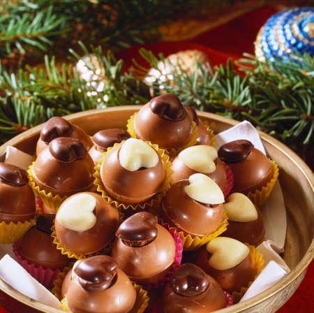 trufas de chocolate: Trufas de chocolate elegantes
