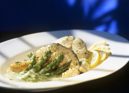 european cuisine: Merluza en salsa verde (Hake from the Basque region, Spain)