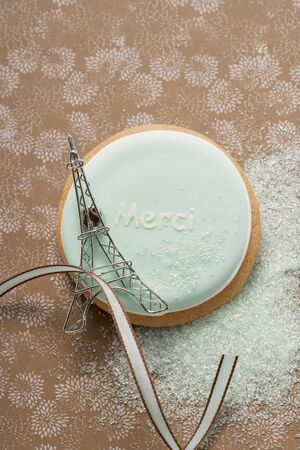 merci: A Frencn biscuit with the word Merci