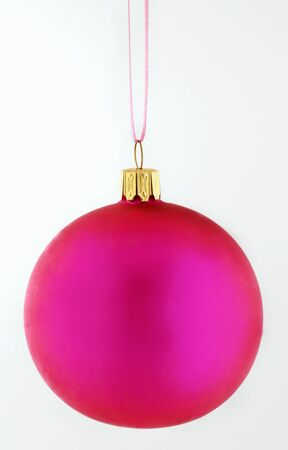 solo  christmas: A pink Christmas bauble