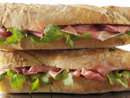 parma ham: Two Parma ham baguettes