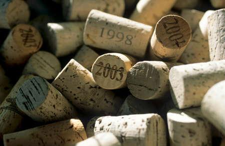 vintages: Many wine corks