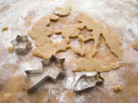 biscuit dough: Biscuit dough with biscuit cutters LANG_EVOIMAGES