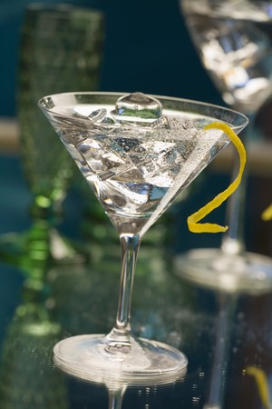vermouth: Gin Tini (Cocktail made with gin and Extra Dry Vermouth)