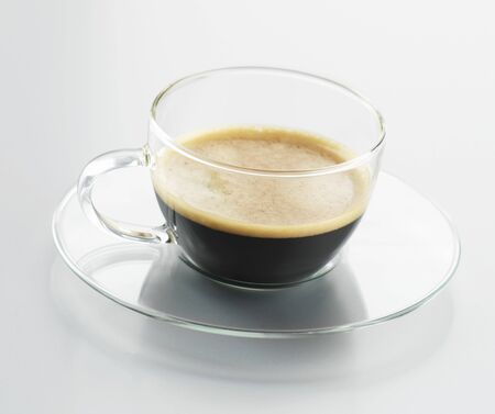 expresso: Espresso in a glass cup