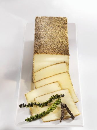 peppered: Peppered cheese