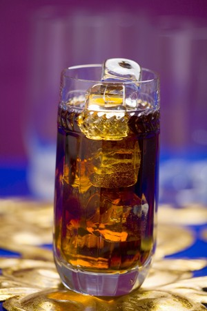 bacardi: Bira Puera (Cocktail made with Bacardi, cherry brandy liqueur, cola)