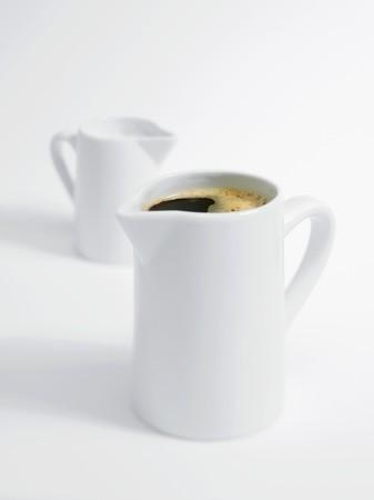 coffeepots: Coffee pot and milk jug