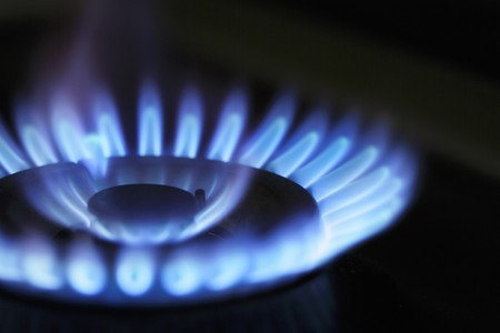 range of motion: Gas flame (close-up)
