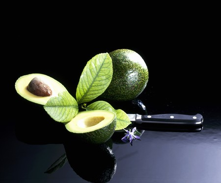 halved: Avocados, whole and halved