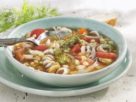 foeniculum: Seafood soup with fennel