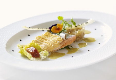 piped: Salmon trout with piped potato LANG_EVOIMAGES