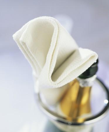 bouteille champagne: bouteille de Champagne dans le refroidisseur