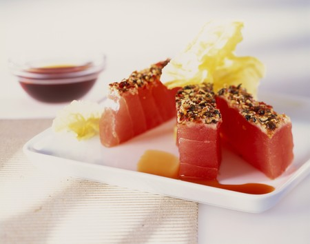 seared: Seared tuna fillets LANG_EVOIMAGES