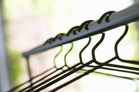 clothes rail: Clothes rail with coat hangers