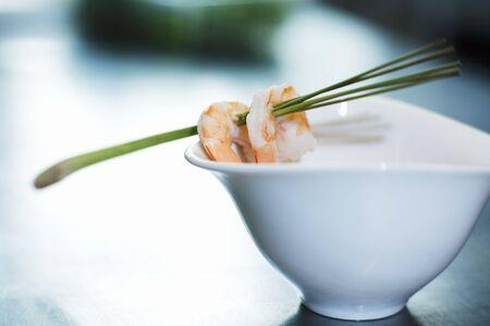 lemon grass: Shrimps on lemon grass