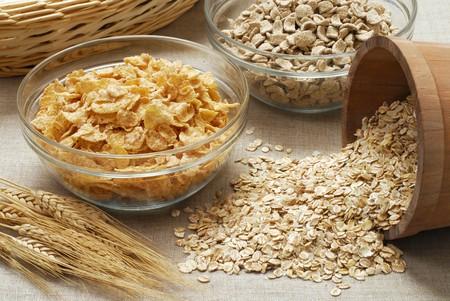 avena en hojuelas: Cereales: copos de ma�z, copos de avena