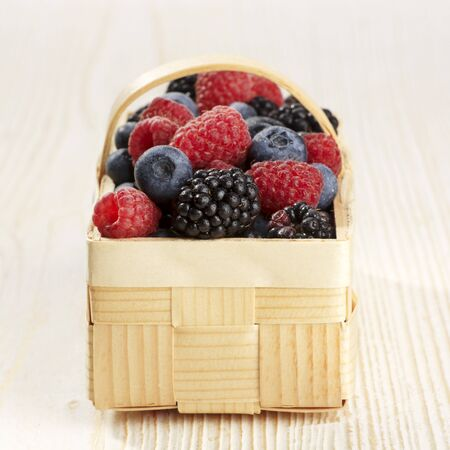 A basket of various berries