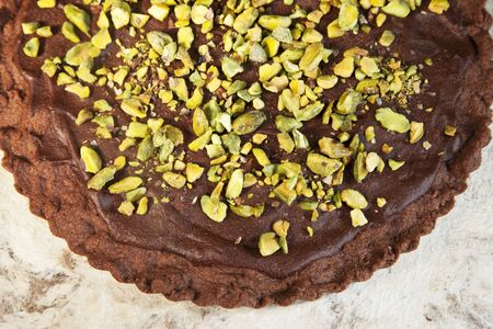 shortbread: Chocolate Shortbread with Pistachios and Chocolate Ganache
