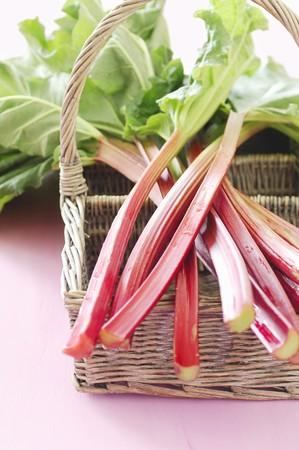 rheum: Rhubarb on a basket