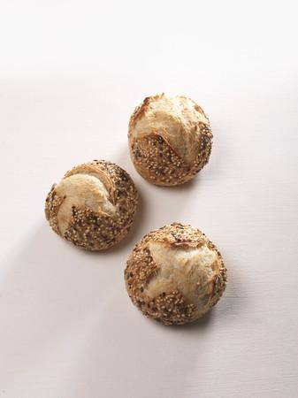 sesame seed: Three sesame seed rolls