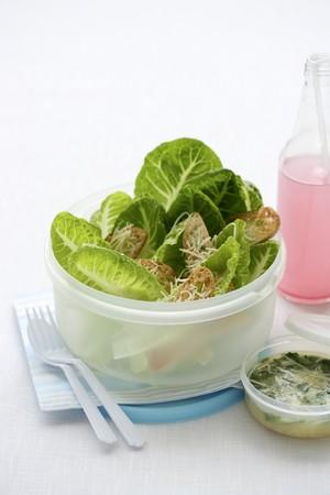 soda pops: Caesar salad and lemonade for lunch LANG_EVOIMAGES