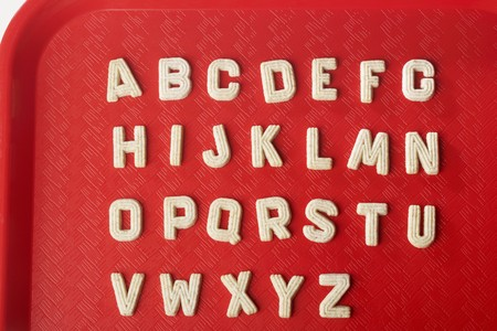 lunch tray: Alphabet Sugar Cookies on Lunch Tray LANG_EVOIMAGES
