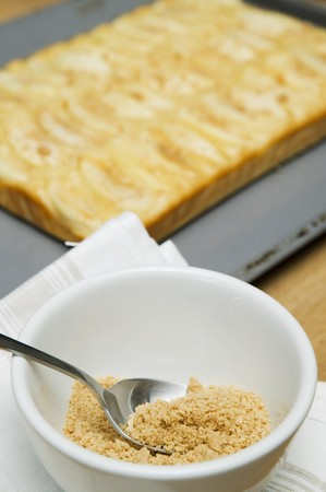 breadcrumbs: Apple cake and breadcrumbs for sprinkling