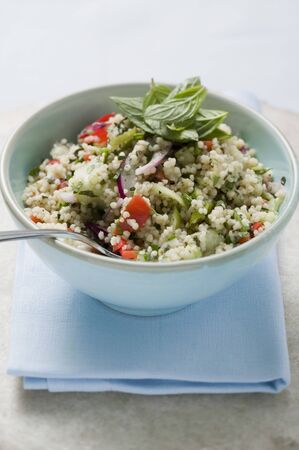 substantial: Couscous salad with vegetables and mint LANG_EVOIMAGES
