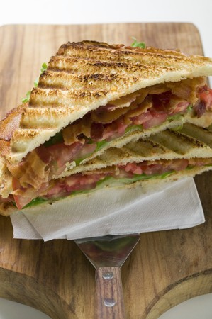 substantial: BLT sandwiches, toasted