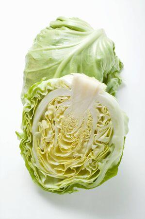 halved: White cabbage, halved