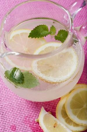 soda pops: Lemonade in glass jug