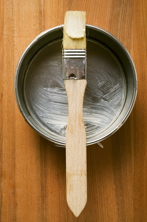greasing: Pastry brush with butter on baking tin