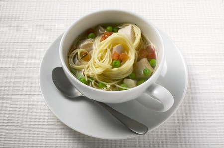 noodle soup: Noodle soup with chicken and vegetables