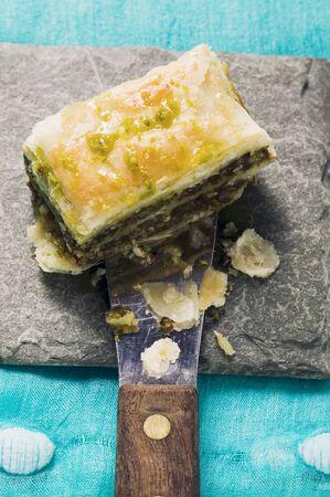 pastes: Baklava (Filo pastry with honey and pistachios, Turkey)
