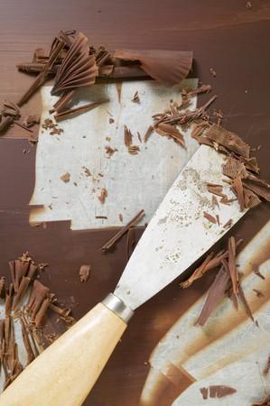 scraped: Making chocolate curls