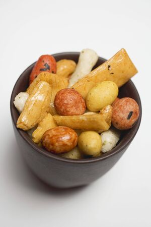 nibbles: Nibbles from Japan in small brown bowl