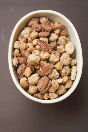 mixed nuts: Mixed nuts to nibble in bowl