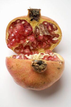 halved: Pomegranate, halved