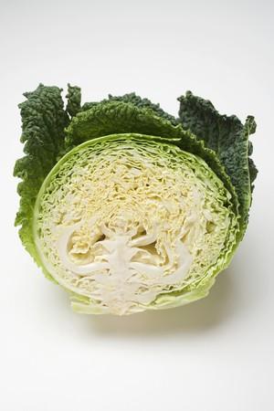 savoy cabbage: Half a savoy cabbage