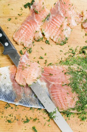 lax: Slicing gravad lax