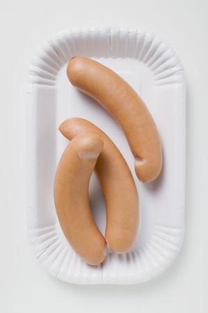wienie: Frankfurters on paper plate LANG_EVOIMAGES