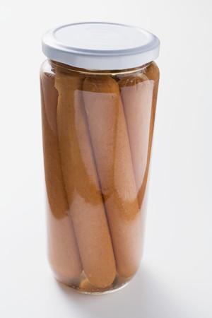 wienie: Frankfurters in a jar