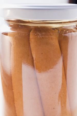wienie: Frankfurters in a jar (detail)